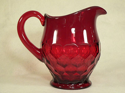 ruby glass opaque colloid