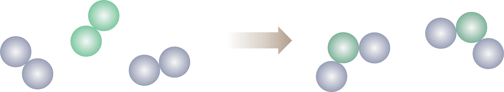 balanced equation particle diagram