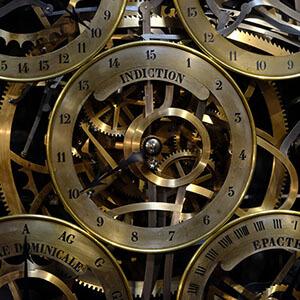 brass clock gears