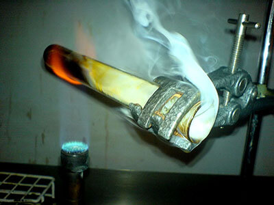 test tube bunsen burner