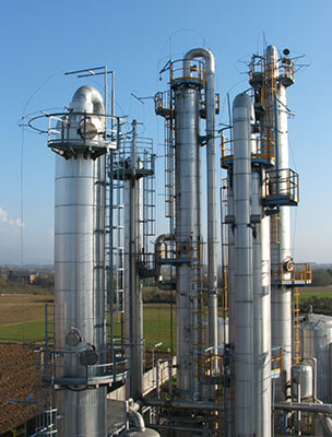 fractional distillation column crude oil