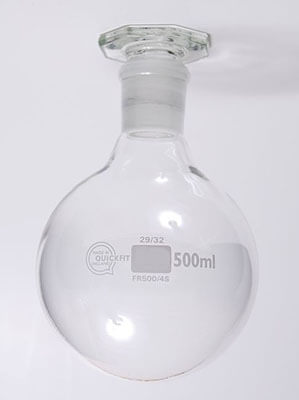 science laboratory round-bottom flask