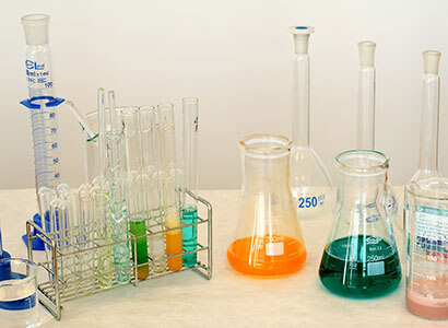 chemical solutions laboratory glassware