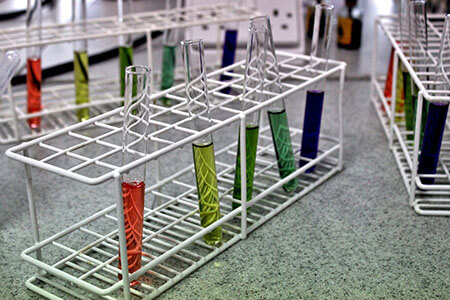 science laboratory test tubes rack