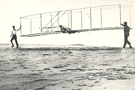 wright brothers aircraft test experiment