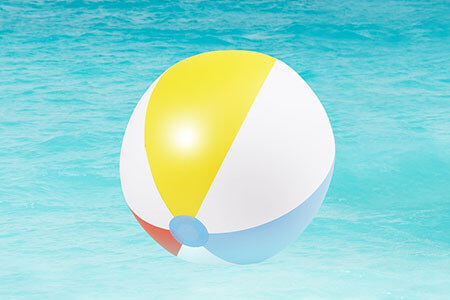 gases low density beach ball