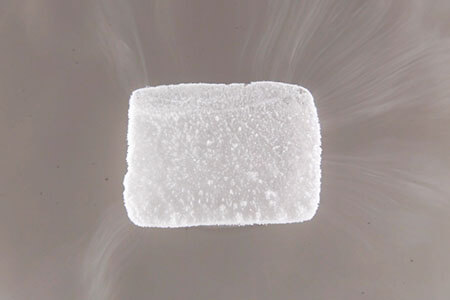 dry ice sublimation deposition heat energy