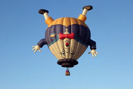 hot air balloon air expansion