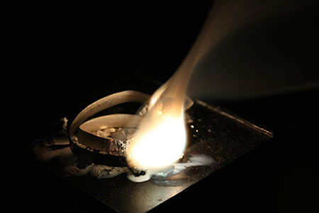 magnesium ribbon burning chemical reaction