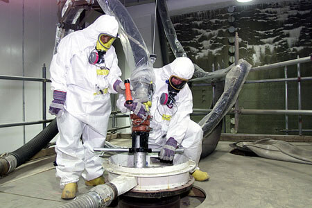 radiation workers safety gear