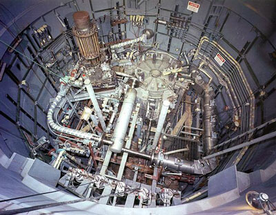 inside nuclear reactor core
