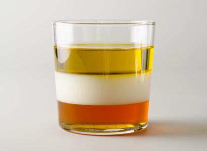 density tower column oil milk honey