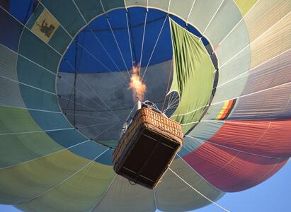 hot air balloon density