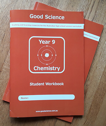 year 9 chemistry print workbooks