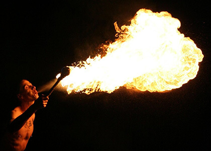surface area fire breathing