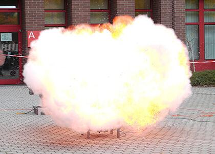 surface area flour dust explosion